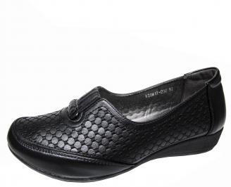 Дамски обувки черни от еко кожа DRPR-22529