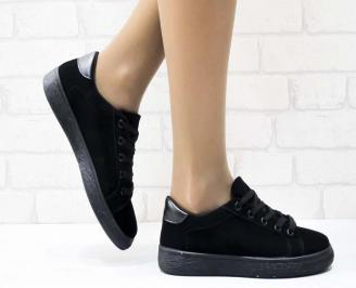 Дамски  обувки  черни текстил CMLN-25135