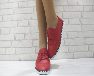 Дамски  обувки  червени еко кожа WJZQ-23961
