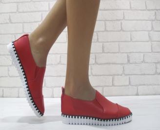 Дамски  обувки  червени еко кожа GTGF-23965