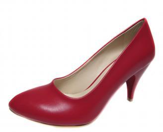 Дамски обувки червени еко кожа GYRL-18756