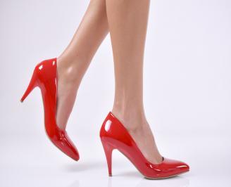Дамски обувки червени еко кожа/лак JLXJ-18758