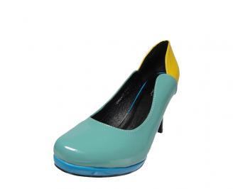 Дамски  обувки еко /лак сини CJUY-12889