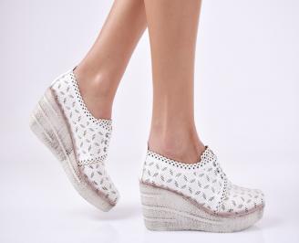 Дамски  обувки еко кожа бели YQJA-1011193