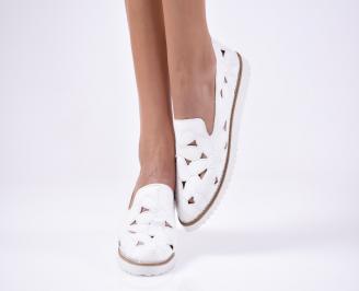 Дамски  обувки еко кожа бели ANYQ-1012119