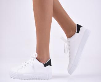 Дамски  обувки еко кожа бели LFXT-1012789