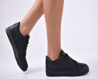 Дамски  обувки еко кожа черни HWOU-1012790
