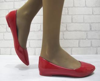 Дамски обувки еко кожа/лак червени KOLO-23536