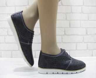 Дамски  обувки  еко кожа тъмно сини FUZW-23768