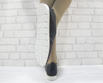 Дамски  обувки  еко кожа тъмно сини 3