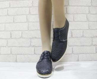 Дамски  обувки  еко кожа тъмно сини 5