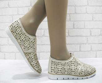 Дамски  обувки  еко кожа бежови RLBH-23769