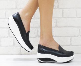 Дамски  обувки   еко кожа черни OAAE-26460