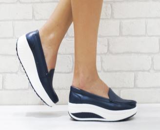 Дамски  обувки   еко кожа сини UOBC-26462