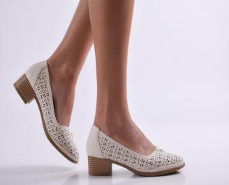 Дамски обувки еко кожа бежови ERJN-26928