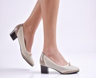 Дамски обувки еко кожа бежови RIGO-26964