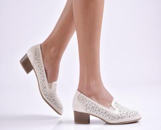 Дамски обувки еко кожа бежови SWYE-26965