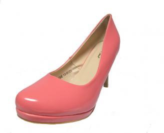 Дамски  обувки еко кожа/лак розови PHAJ-12887