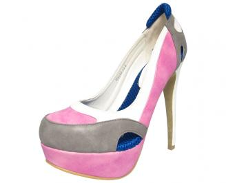 Дамски обувки еко кожа розови WNKY-13180