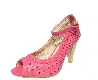 Дамски обувки еко кожа розови EPQS-13444