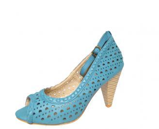 Дамски обувки еко кожа сини VXZH-13446