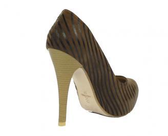 Дамски обувки еко кожа кафяви TBAD-10451