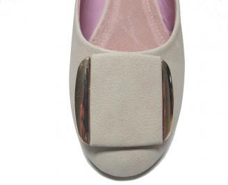 Дамски обувки еко кожа бежови KUCW-14774