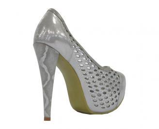 Дамски обувки еко кожа сребристи ERSX-10508