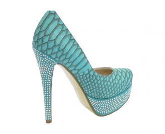 Дамски обувки еко кожа сини GTXI-10520