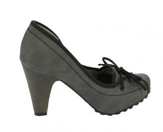 Дамски обувки еко кожа сиви ABNC-10550