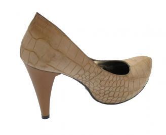 Дамски обувки еко кожа кафяви KFNX-10556