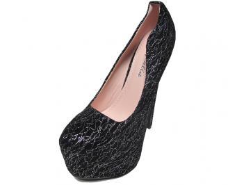 Дамски обувки еко кожа черни OVEY-15857