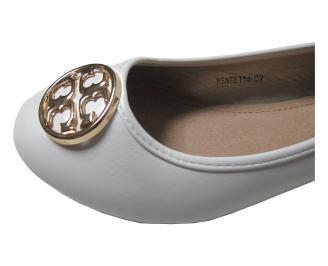 Дамски обувки еко кожа бели LJKS-15893