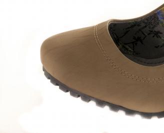 Дамски обувки еко кожа каки JEWF-16221