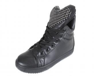 Дамски обувки еко кожа черни WXVI-17627