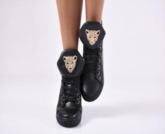 Дамски обувки еко кожа черни KBAK-17628