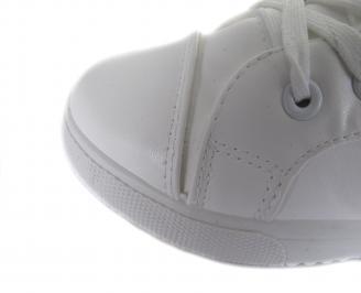 Дамски обувки еко кожа бели BEVL-17766