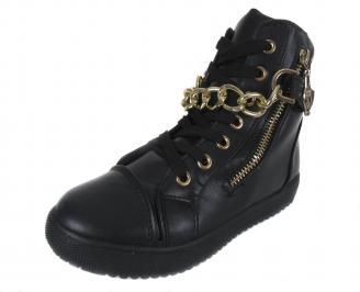 Дамски обувки еко кожа черни QUHM-17774