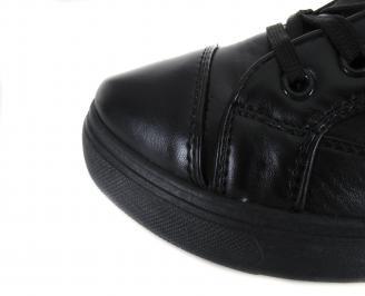 Дамски обувки еко кожа черни WKCZ-17836