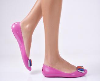 Дамски обувки еко материали цикламено TKKU-13057