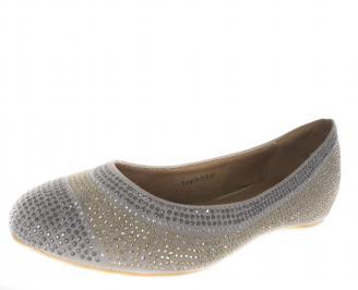 Дамски обувки еко набук бежови AVGE-18242