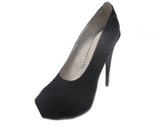 Дамски обувки еко велур черни ULSG-15195