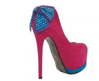 Дамски обувки еко велур цикламени XBVC-10533