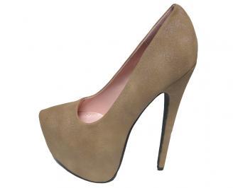 Дамски обувки еко велур бежови WCTO-15855