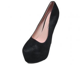 Дамски обувки еко велур черни RPYZ-15856