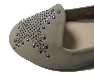 Дамски обувки еко велур бежови RWFQ-16065