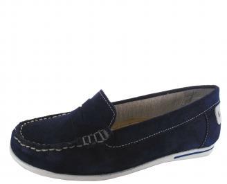 Дамски обувки естествен велур тъмно сини ZFKL-19765