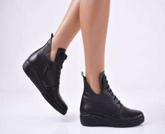 Дамски  обувки естествена кожа черни NZGQ-1011051
