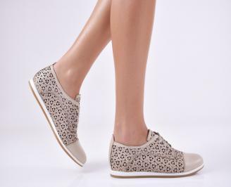 Дамски обувки естествена кожа бежови XMFM-1011053