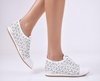 Дамски  обувки  естествена кожа бели KLHB-1011054